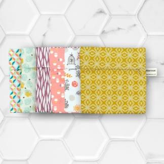 assortiment de pochettes à cosmétiques solides en coton alterosac