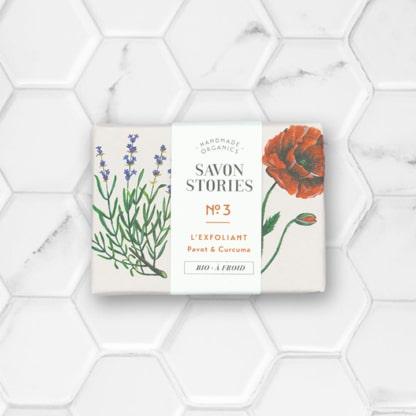 savon solide exfoliant aux graines de pavot savon stories