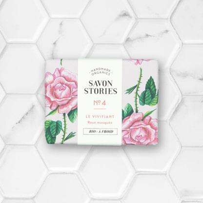 savon solide à la rose savon stories