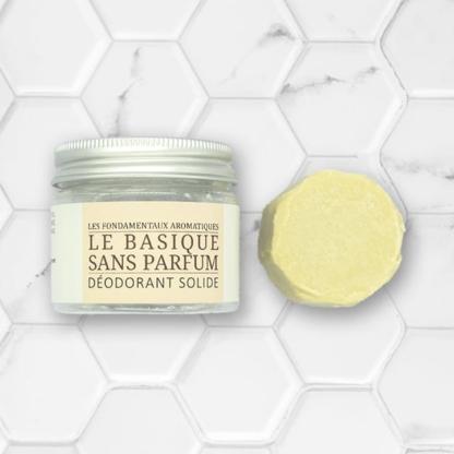 """déodorant solide sans huile essentielle """"Le Basique"""""""