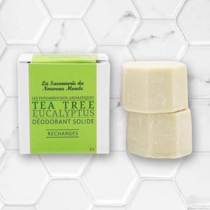 recharge du déodorant solide tea tree eucalyptus la savonnerie du nouveau monde