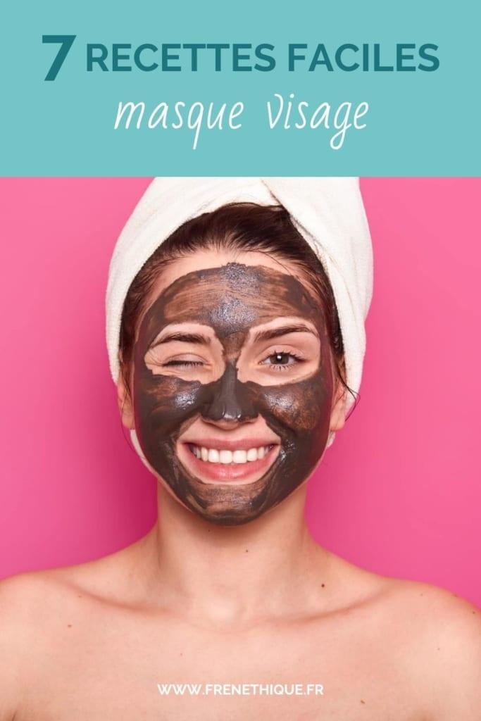 portrait d'une femme faisant un masque visage au cacao