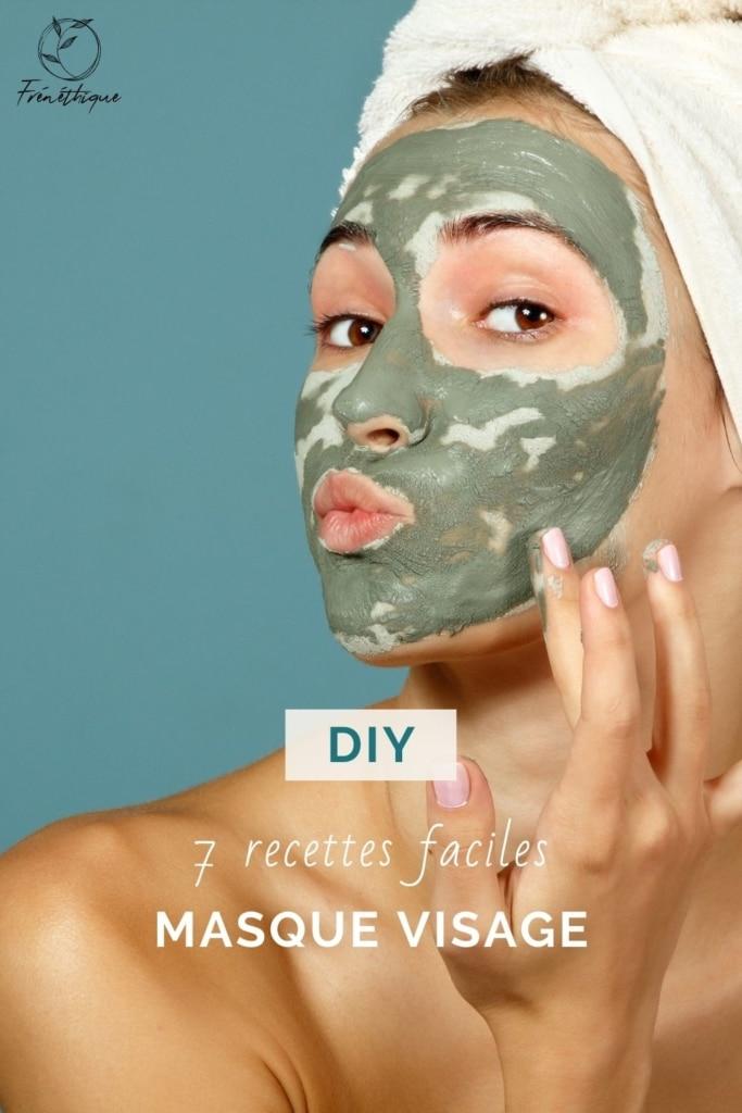 portrait d'une femme ayant un masque visage purifiant