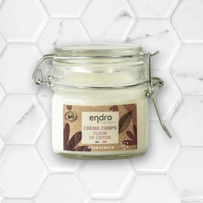 crème corps hydratant fleur de coton endro cosmétiques
