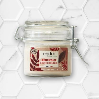 dentifrice en pâte naturel goût fruits rouges endro cosmétiques
