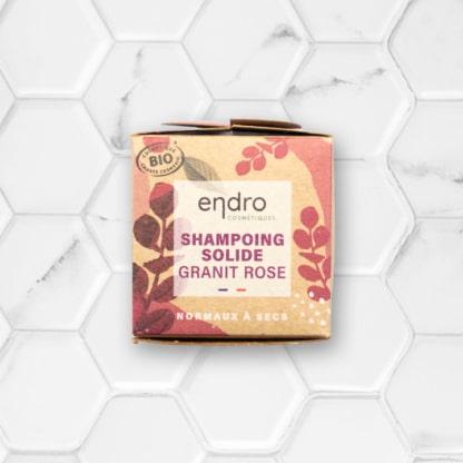 étui shampoing solide granit rose endro cosmétiques