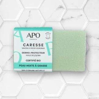 Savon solide Caresse pour peaux mixtes à grasses APO France