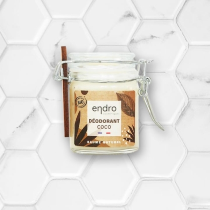 Déodorant en baume à l'huile de coco et sans parfum de Endro Cosmétiques