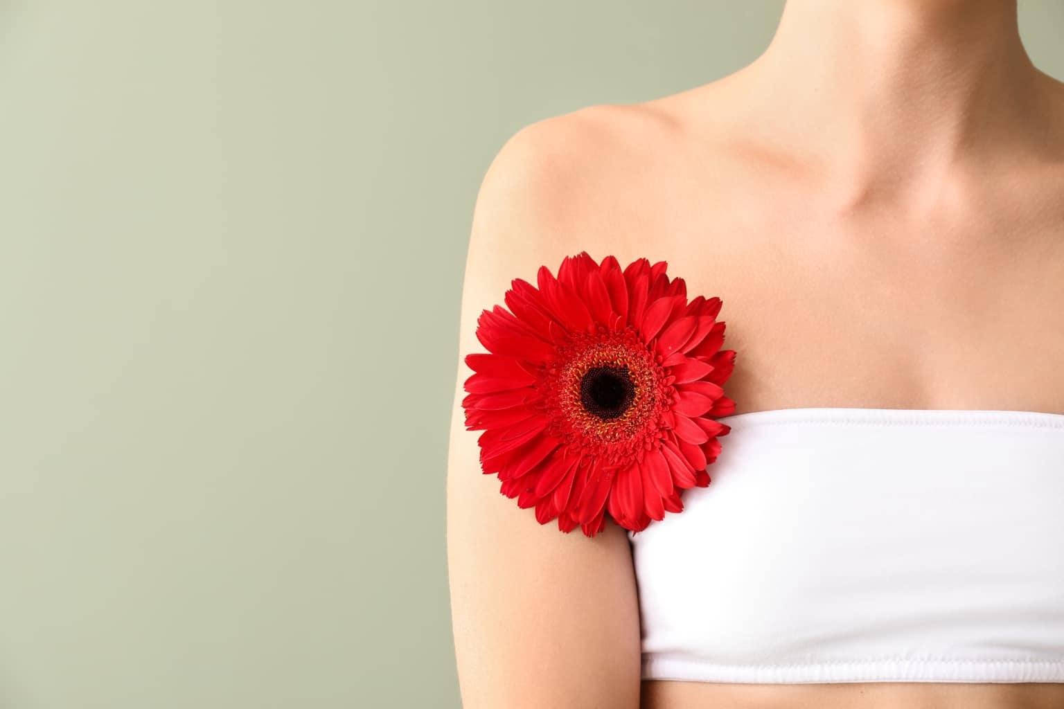 déodorant naturel - femme fleur aisselles