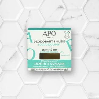 déodorant solide à la menthe APO