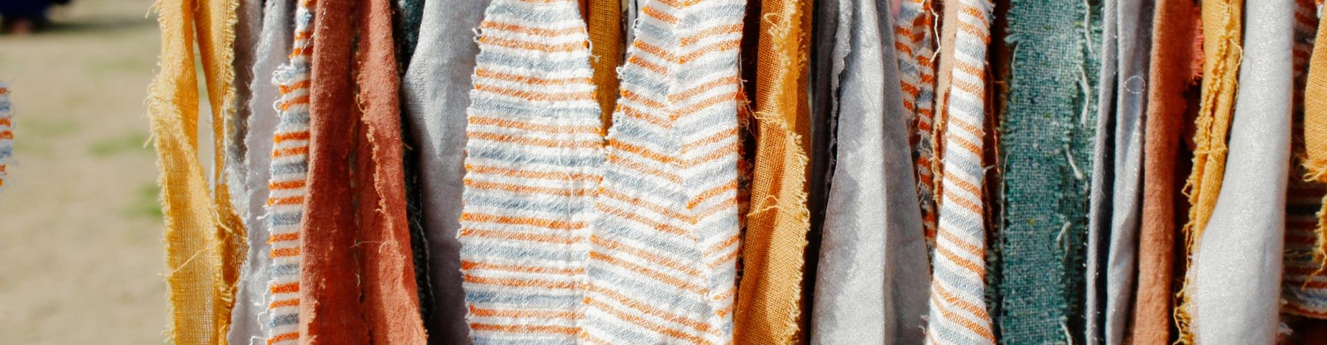 bande de tissu upcyclée